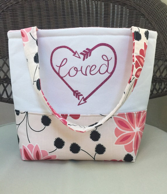 Gifts for Mom - Gifts for Women - Teacher Gifts - Loved Tote Bag  - Bible Bag - John 3:16 - Bible Verse