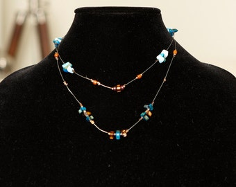 SALE Beautiful River Stones Necklace with Silver 950.
