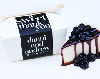 Pie Slice Box, Wedding Favor, To Go Box, Cake Box, Favor Box, Doughnut Box, Cookie Box, Candy Box, Dessert Box, Favor Label, Wood Fork