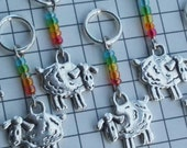Ring Rainbow - set of 8 sheep stitch markers