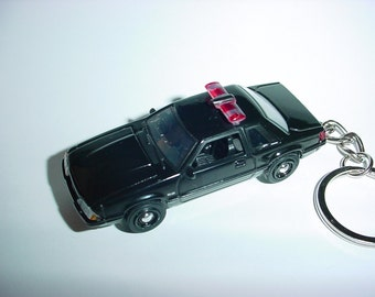 3D 1987 Ford Mustang LX police custom keychain by brian thornton keyring key chain finished in black finish