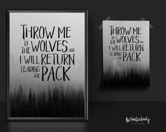Wolves  | Quote | Printable wall Art
