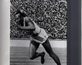 Canvas 24x36; Jesse Owens In 1936