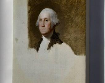 Canvas 24x36; Athenaeum Portrait Of George Washington (The Athenaeum Portrait) By Gilbert Stuart 1796