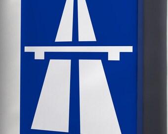 Canvas 24x36; Autobahn Sign
