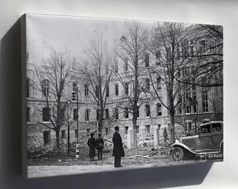 Canvas 24x36; Helsinki Bombardment 1939 Sa Kuvat Fu2011