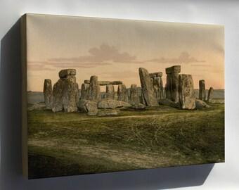 Canvas 24x36; Stonehenge C1895 Photochrom