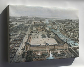 Canvas 24x36; Paris France 1850