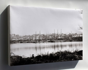 Canvas 24x36; Georgetown Waterfront In 1865