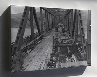 Canvas 24x36; U.S. First Army, Remagen Bridge, Rhine River March 1945