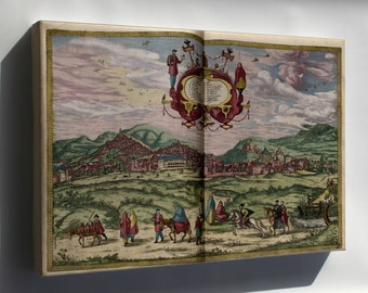 Canvas 16x24; Map Of Granada 1563