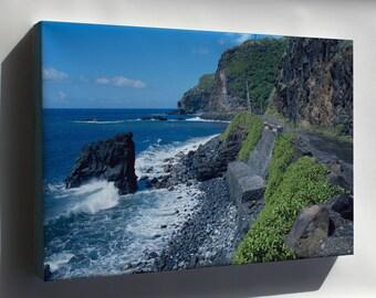 Canvas 16x24; Hana Belt Road, Between Haiku And Kaipahulu, Hana Vicinity Maui County, Hawaii