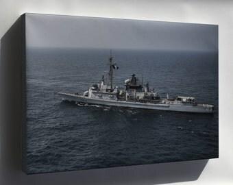 Canvas 16x24; French Marine Nationale Frigate Cassard (D 614)