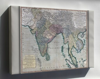 Canvas 16x24; Map Of Southeast Asia 1794 India Vietnam Thailand