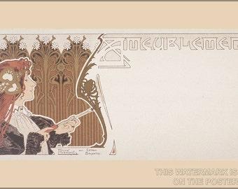 16x24 Poster; Art Nouveau P2 Ameublement C1890 By Henri Privat-Livemont (1861–1936)