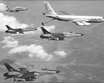 16x24 Poster; F-105D Thunderchief Kc-135A Stratotanker Vietnam War 1965