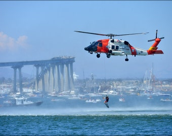 16x24 Poster; Uscg Coast Guard Sikorsky Mh-60T Jayhawk Mh-60 Helicopter