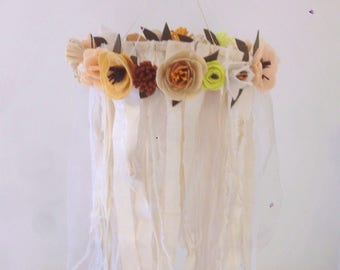 Bohemian flowers chandelier / baby mobile / bohemian decor