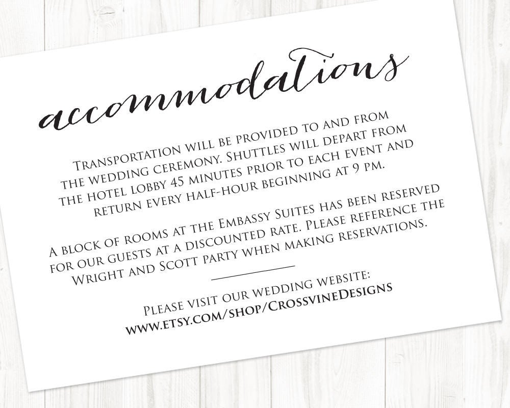 wedding accommodation template