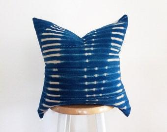 Authentic African Indigo Textile Pillow Cover