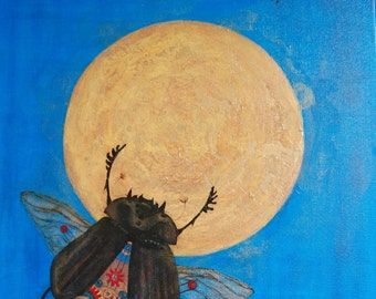 Fantasie schilderij 'Icarious Occasion'  /  Fantasy painting 'Icarious Occasion'