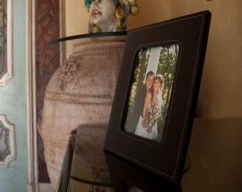 Genuine Leather Photo frame - Wedding Leather frame Picture Brown photo frame - interior design - home decor - luxury - elegant wedding gift