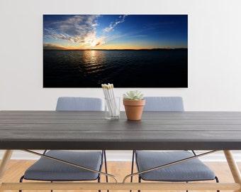 Lago di garda, Sirmione, Italy, beautiful landscape sunset photography. Wall Art Decor