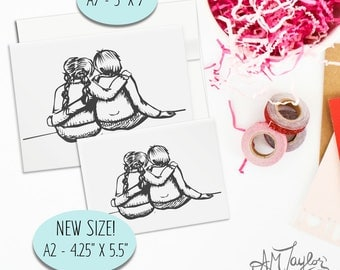 Friendship card for any occasion // best friends card // long distance friends // Valentines Day Card // Love Card // Card for her
