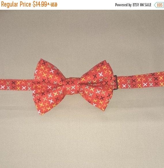 "Winter Sale Adult & Children's  ""Tic Tac"" Red  Pretied Bowtie/ Pretied Bow Tie"