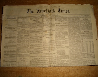 November 2 1867 NEW YORK TIMES Original Newspaper