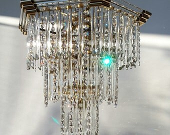 A very nice prism chandelier made by Bakalowits Austria
