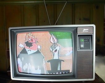 Vintage Zenith  Space Command Color Tv Model SD1911W