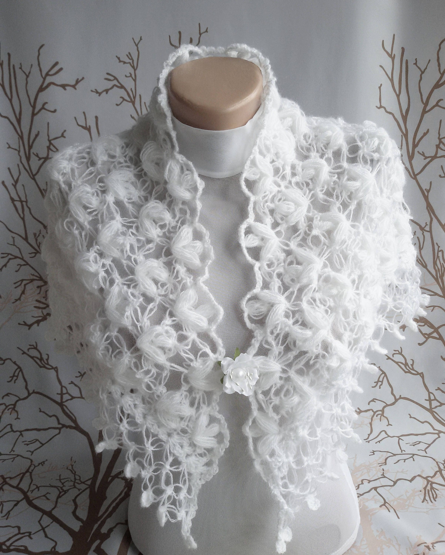On Sale White Bridal Shawl Wedding Shawl Bridal Shrug Bridal Bolero
