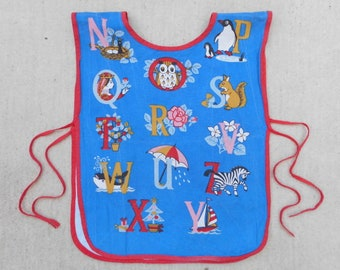 vintage childs art tabard cooking apron 1960's
