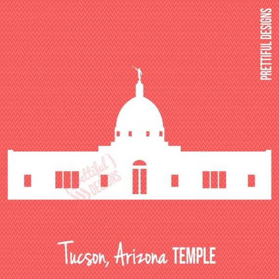 Tucson Arizona Temple Silhouette Lds Mormon Clip Art Png