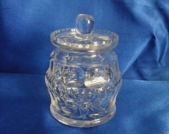 Vintage Glass Jam/Preserve Pot