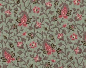 Item # 13635 13 Moda Fabric La Belle Fleur Collection by French General. 1/2 Yard Cuts Vintage French Designs.