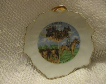 Vintage Kansas State Decorative collectible miniature plate