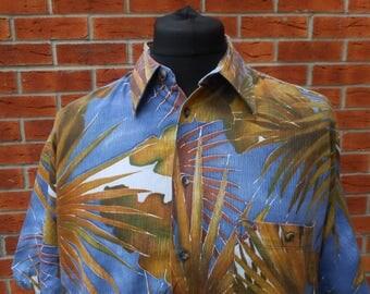 1990s abstract funkster short sleeve cotton shirt XL