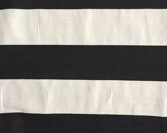 Black & White Bold Stripe Cotton Fabric by the Yard Black White Linen Striped Print Cotton Linen Fabric Summer Clothing Quilting Fabric