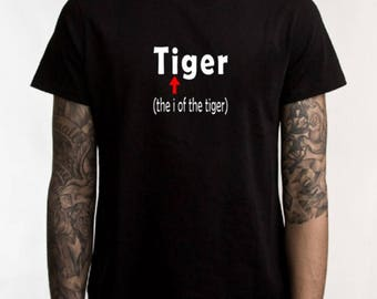 Tiger tshirt, eye of the tiger, funny t-shirt, sarcastic t-shirt, graphic tee, animal jokes, funny shirt, sarcasm, rocky jokes, movie joke