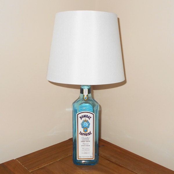 Bombay Sapphire Table Lamp By HeartofGlassUK On Etsy