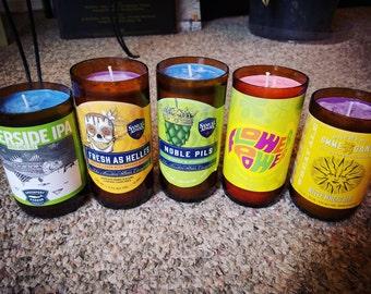 Craft beer bottle candles