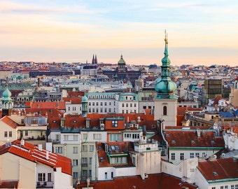 Prague Rooftops, Prague, Czech Republic, Skyline, Photography, Prints, Fine Art Prints, Wall Art, Travel Photography, Prague Wall Art