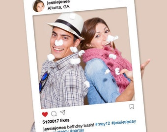 Instagram Frame DYI / Photo Booth Prop / Graduation, Prom, Birthday Party, Wedding / Teen, Social Media / Trending ▷Printable PDF
