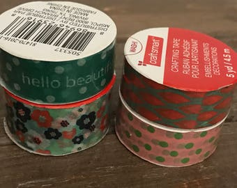 4 roll set assorted washi tape from michaels NEW (each roll is 5 yards)