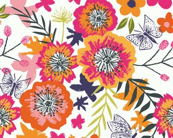 Exotic Floral Print Cotton Quilting and Patchwork Fabric - Fat Quarter