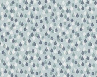 Raindrop Print Cotton Quilting and Patchwork Fabric - Fat Quarter