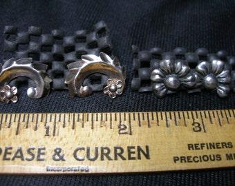 Two Pair of Sterling Screw Back Earrings(658)