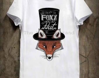 T-SHIRT - graphic - Fox illustration foxy hat / / foxy hat drawing men t-shirt sizes s, m, l, xl / / gl boutik